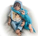 CHHD Reborn bebés Realista bebé chimpancé Mono muñeca 48 cm coleccionistas de Vinilo Hechos a Mano en Calidad, Tan Lindo pequeño