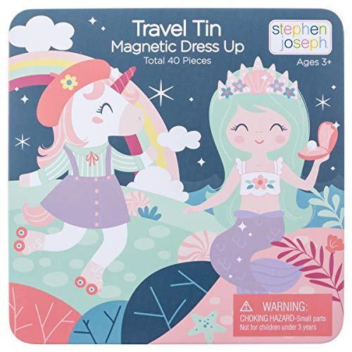 Stephen Joseph Travel TIN Magnetic Dress UP Unicorn and Mermaid