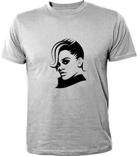 Mister Merchandise Cooles Herren T-Shirt Rihanna, Größe: L, Farbe: Grau