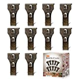 AIEVE Brick Clips, 10 Pack Heavy Duty Brick Hangers Picture Hangers Siding Hooks Hanging Clips No Damage Wall Hangers Clips Without Nails for Hanging Outdoor Pictures Wreath Light Decorations
