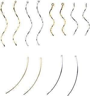 【Za-Bi (ザ-ビ) 】ひねりチャーム 大小 スティック チャーム 3種類 2色セット/ ゴールド シルバー / アクセサリー パーツ イヤリング ピアス /ひねり他12本