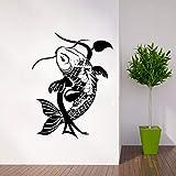 tzxdbh Maison Deocr Poissons Traditionnel Japonais Animal Classique Vinyle Sticker Amovible Poissons...