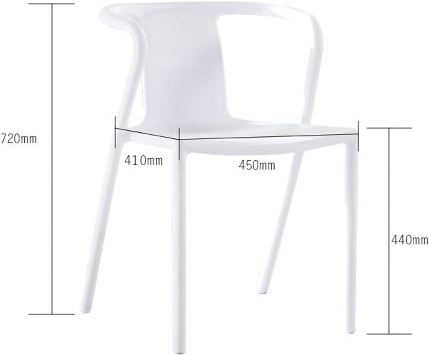 WDX- Moderne maison minimaliste en plastique chaise adulte loisirs bureau négocier chaise mode (Color : E) A