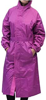 Kavish Women's Purple Raincoat with Hidden Collar Pocket for Cap