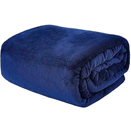VIA MONTEN Flannel Fleece Throw Blankets, Queen Size (220 x 240cm) Super...