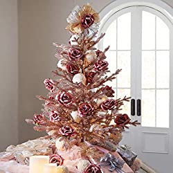 brylaneHome 4' rose gold christmas tree