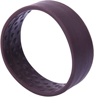Candygirl 1PC Silicone Foldable Stationarity Hair Tie Multifunction Hair Bands For Women Girls Elastic Ponytail Holders Non Slip (Brown)