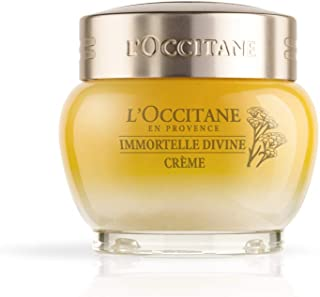 L'Occitane Anti-Aging Immortelle Divine Face Cream Moisturizer for a Youthful and Radiant Glow, 1.7 oz.