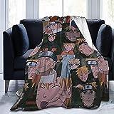Manta Naruto Uzumaki Naruto con diseño de dibujos animados, manta supersuave y cálida, para fans del Anime (A1, 130 x 150 cm)