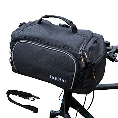 Haleon Fahrrad Lenkertasche Wasserdicht groß 10L, klick Fahrradtasche für Lenker, zum abnehmen und umhängen, 35 x 18 x 19 cm