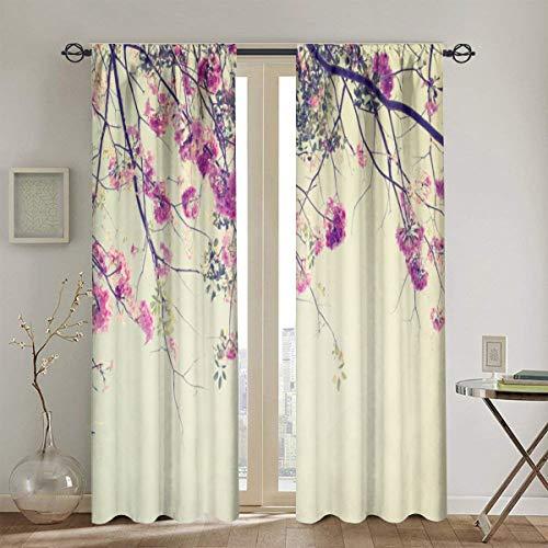 cortinas opacas flor de cerezo