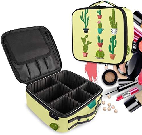 Cosmetische HZYDD Cactus Plant Make-Up Bag Toilettas Rits Make-up Tassen Organizer Pouch voor Gratis Compartiment Vrouwen Meisjes tas
