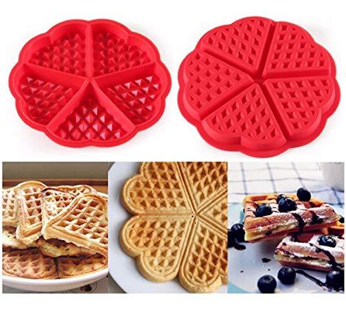 Forma Silicone Waffles Panqueca Omelete Assadeira Coração