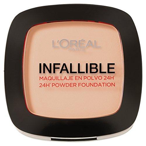 L'Oréal Paris - Infallible 24H, Maquillaje en Polvo Compacto, Tono 123
