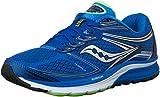 Saucony Men's Guide 9 Running Shoe, Blue/Slime/Black, 11.5 W US