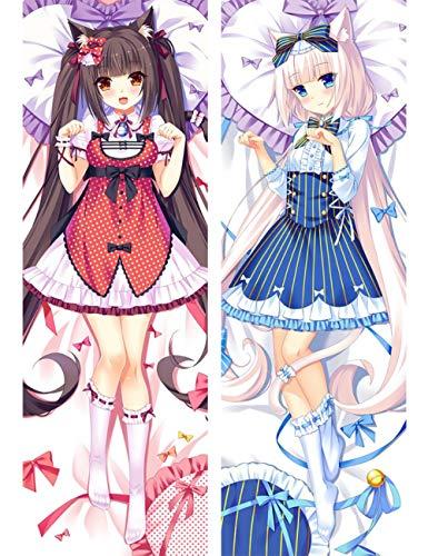 Japanese Anime Game Nekopara Chocola Vanilla Body Pillow Cover Case Decorative Waifu Pillowcases Thr