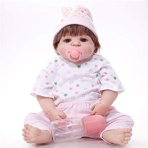 QWER Reborn Babypuppen mädchen 22 55cm Voll Vinyl Silikon   Real Touch Baby Lebensechte Reborn Puppen Realistische Neugeborenen Puppe Schlafendes mädchen