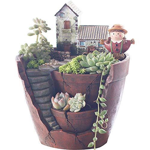 Cactus Resin leeg in de Garden Plant Flower Plantation Landschap Potplanten Box Container thuiskantoor Garden Succulent Decoration Bloemenstandaard-4.4