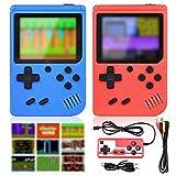 GOLDGE 2pcs Consola de Juegos Portátil para Niños, Consola Retro Juegos Clásicos Compatible con Salida de TV y Pantalla a Color de 3 Pulgadas con Batería Recargable Regalo de Cumpleaños