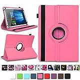 NAmobile Tablet Tasche kompatibel für Blaupunkt Atlantis A10.G402 A10.G403 Hülle Schutzhülle Tablettasche mit Standfunktion 360 Crad drehbar Universal Tablethülle, Farben:Pink