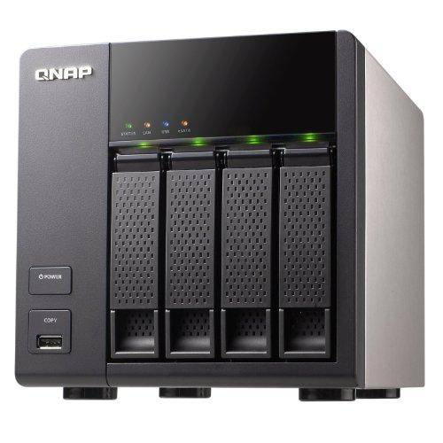 Qnap TS-412/12TB-RED NAS-Server 12TB (Marvell 6281, 1,2GHz, 256MB DDR2-Speicher, 4-Bay, 8,9 cm (3,5 Zoll)/6,4 cm (2,5 Zoll), 4x USB 2.0)