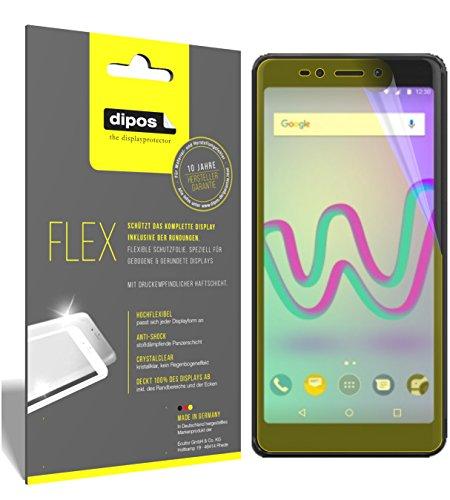 dipos I 3X Schutzfolie 100prozent kompatibel mit Wiko Jerry 3 Folie (Vollständige Bildschirmabdeckung) Bildschirmschutzfolie