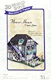 3D rompecabezas tridimensional 3D World Style Series Flower House W3120h (Jap?n importaci?n / El paquete y el manual est?n escritos en japon?s)