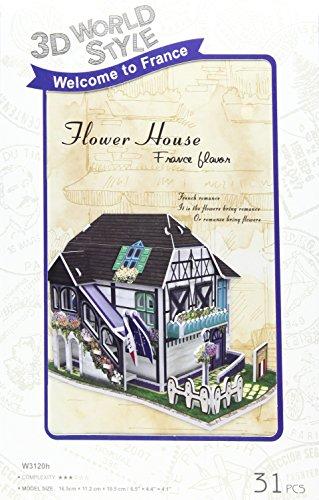 3D puzzle en trois dimensions 3D style World Series Flower House W3120h (Japon import / Le paquet et le manuel sont ?crites en japonais)
