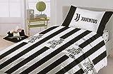 Juventus Completo Letto in Cotone Prodotto Ufficiale Lenzuola Juve Nuova Collezione (Singolo)