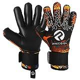 Precision - Guantes de portero de fútbol con agarre suave en la palma de la mano, guantes de portero profesionales, para adultos y jóvenes, nivel 1 (naranja, 11)