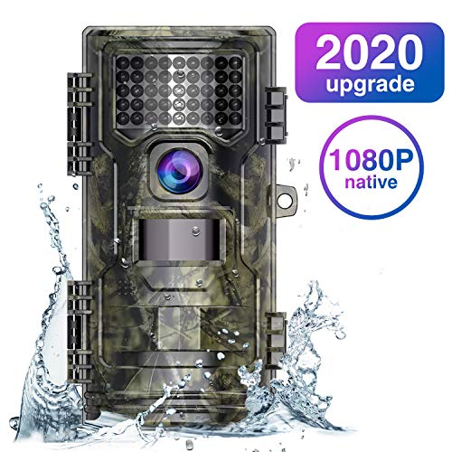 WiMiUS Wildlife Camera 20MP Native 1080P Trail Game Camera with Night Vision Detection Motion Activated Wildlife Hunting Camera with 0.2s Trigger Speed 2.0' LCD IR LEDs