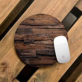 Wooden Style Unique Mouse Pad Computer MousePad Office Decor Handmade Desktop Pad Custom Wood, AW5162