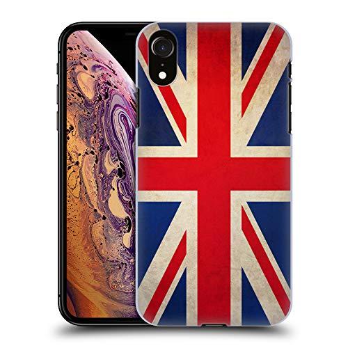 Head Case Designs Británicos De Gran Bretaña Banderas Vintage Carcasa rígida Compatible con Apple iPhone XR