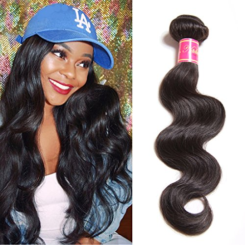 Nadula 8A Grade Brazilian Body Wave Hair 1 Bundle 100% Unprocessed Virgin Human Hair Weave 100+/-5g/Bundle Best Remy Human Hair Extension Natural Color Can be Dyed And Bleached (18inch)