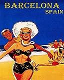 Lienzo Mural Pared Europa España Barcelona Pop Art Print Poster Home Wall Decor 60x90cm
