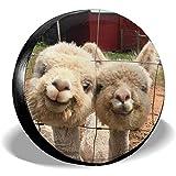 Hiram Cotton Spare Tire Cover Baby Alpaca E Llama Copriruota per Pneumatici Fuoristrada Extreme Speed Overdrive Universal