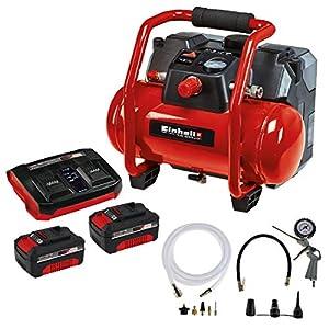 51Oh9vWxtBL. SS300  - Einhell 4020450 Compresor con batería + 4512083 PXC-Starter-Kit, color rojo/negro