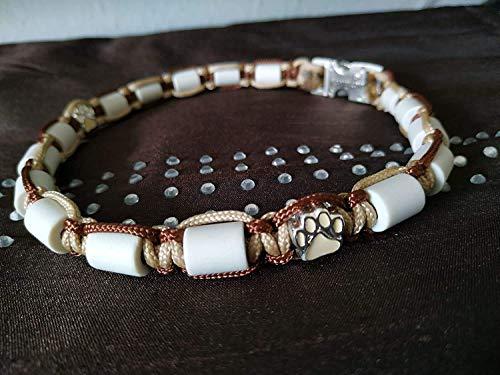 Pfoetchen-Welt EM-Keramik Halsband für Hunde. Individuelle Maßanfertigung! Jetzt auch mit Namen. Stellen Sie sich Ihr Wunschhalsband selbst zusammen. Beschreibung beachten! Infotelefon 015208926890