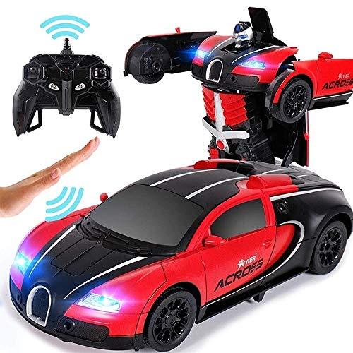 Tritow Transformar RC Cars 1/12 Modelo Autobots ABS Transformer Electric Stunt Car USB Control Remoto inalámbrico Vehículo con tracción en Las Cuatro Ruedas Niños Juguetes Regalo de cumpleaños