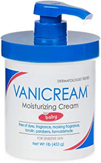Vanicream Moisturizing Cream for Baby | for Sensitive Baby Skin | Dermatologist Tested | Fragrance & Paraben Free | 16 oz with Pump