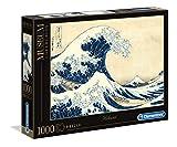 Clementoni-La Grande Onda di Hokusa Museum Collection Puzzle, Colore Neutro, 1000 Pezzi, 39378