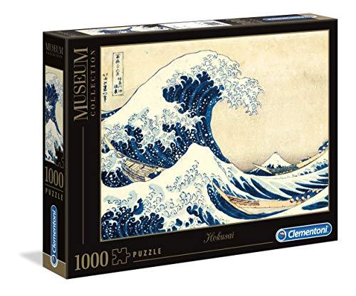 Clementoni 39378 Hokusai – Die große Welle – Puzzle 1000 Teile, Museum Collection, Geschicklichkeitsspiel für die ganze Familie, buntes Legespiel, Erwachsenenpuzzle ab 14 Jahren