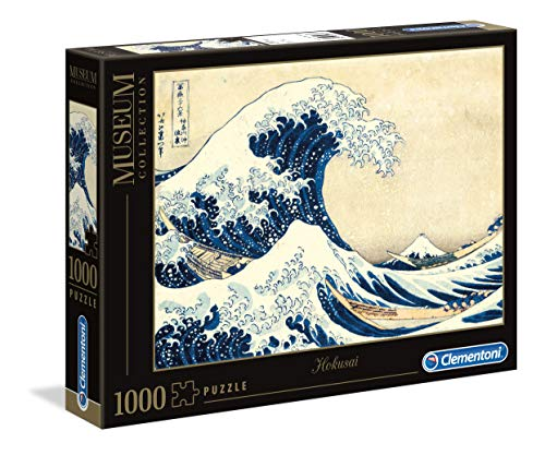 Clementoni 39378.7 Puzzle 1.000 Teile Museums Collection-Hokusai-Die große Welle, 6