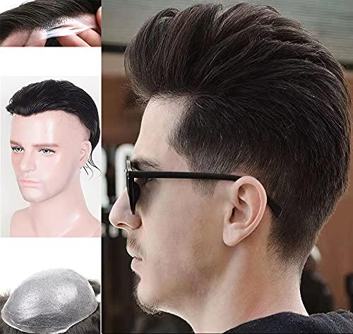 Auspiciouswig - Sistema di sostituzione dei capelli della pelle sottile per uomo (8x10 inch)