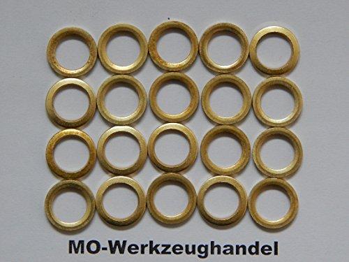 20 Stück Fitschenringe Ø 10 mm, Stahl vermessingt, Fitschenring Maße: 10,2 x 15,8 x 1,8 mm