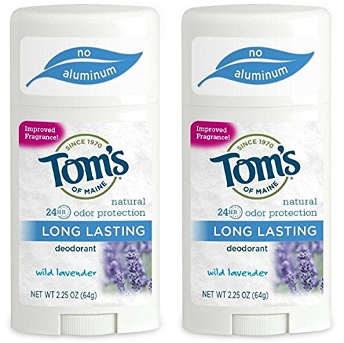 Deodorant Stick, Long Lasting Lavender 2.25 oz (Pack of 2) by Tom's Of Maine