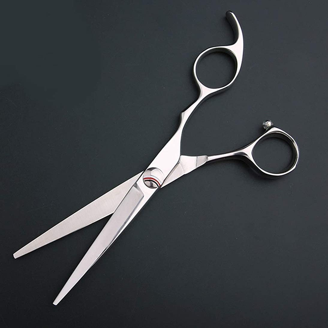 それにもかかわらず地下掘る440Cストレートシザー、6インチ散髪フラットカットプロフェッショナルはさみ モデリングツール (色 : Silver)