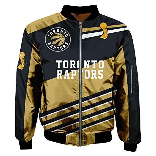 2021 Toronto Raptors Chaqueta, Pascal Siakam Basketball Jersey Moda de Manga Larga Chaqueta de Sudadera, Abrigo de Traje Retro Unisex (S-5XL) L