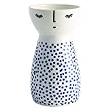 Senliart White Ceramic Vase, Small Flower Vases for Home Décor, 5.9 X 3.2 (Polka Dot)