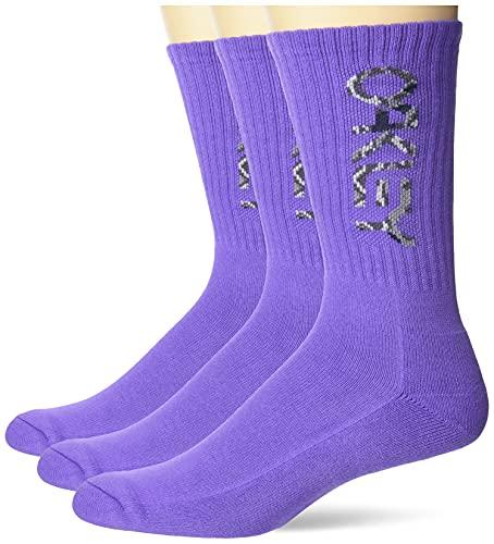 Oakley Unisex-Erwachsene PCS B1B Socken 2.0 (3 Stück), Dunkelviolett, Large